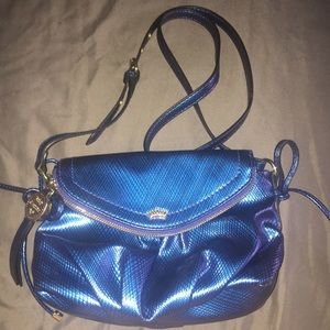 Juicy Couture blue iridescent crossbody